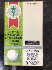 New listing 1991 European Pro-Celebrity Golf Order of Play: Golf: PGA European Tour