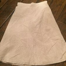 J Crew Yellow, Grey & White Striped Skirt Size 8 Knee Length Cute!