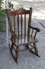 Antique Solid Wood Child Rocking Chair Rocker