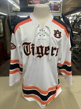 NEW Auburn University AU Tigers Colosseum White Ice Hockey Jersey Men's L