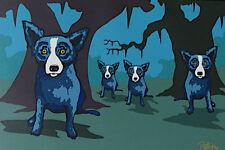 "Blue Dog George Rodrigue      ""Walkin' to New Orleans""        MAKE  OFFER"