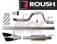 2010-2014 Ford F-150 Roush Side Exit Cat-back Exhaust System Kit w/ Black Tips