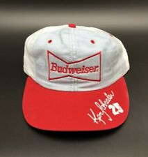 Vintage Ken Schrader #25 Budweiser Racing Team Adjustable Hat NASCAR Race Cap