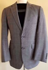 BROOKS Brothers GLEN Plaid BLAZER 39 LONG Gray TWO Button LINED Vented USA Wool*