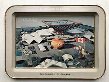 Vintage Montreal Expo 1967 World Fair Metal Tray (Canada Pavilion)