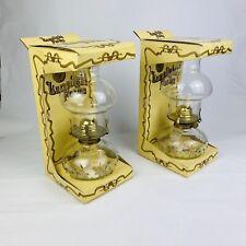 Lamplight Farms Oil/Paraffin Lamp No.212/234. Hobnail Glass Vintage Antique Lamp