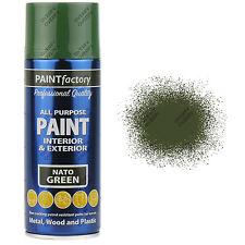 8 x 400ml All Purpose Nato Green Matt Aerosol Spray Paint Household Car Plastic