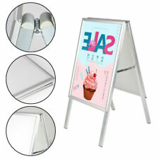 A2 Pavement Sign Poster Snap Frame Display Stand Advertising Boards Double Side