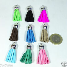 10 Perles de verre Bracelet/Collier 37x10mm M745X Ponpon Collier bonbon Kraag