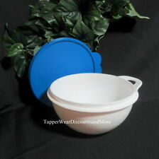 Tupperware NEW THATSA Mixing Storage Serving White Bowl Baby 6 Cup Blue Seal