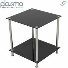 AVF T52 Glass 2 Tier Lamp Table - Black