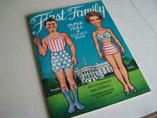 1981 First Family Paper Doll & Cut Out Book (Ron and Nancy)