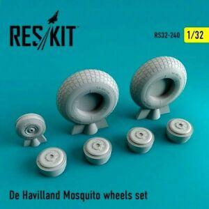 Reskit RS32-0240 - 1/32 De Havilland Mosquito wheels set scale model kit UK