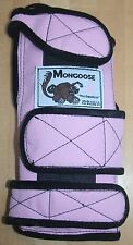 """Mongoose """"Equalizer"""" Bowling Wrist Band Support, SLEP, Left Hand, Small, Pink"""