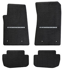 NEW! BLACK FLOOR MATS 2010-2015  Camaro Embroidered Block Script Logo Silver set