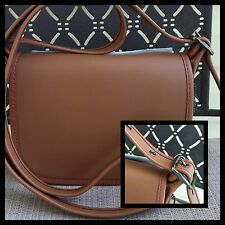 COACH Glovetanned 1 Saddle Bag Purse Crossbody Brown #57731 NWT $225 *Adorable*