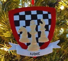 Chess Board Your Move Personalized Christmas Tree Ornaments