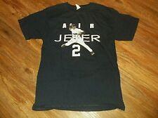 New York Yankees Air Jeter T Shirt Derek Sz Medium M 100% Cotton Blue