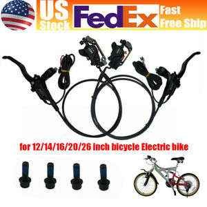 US EBike Hydraulic Disc Front/Rear Oil Brake Aluminium Alloy Braking For MTB