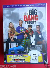 box set 3 dvd + t-shirt serie tv the big bang theory season 3 terza stagione tv
