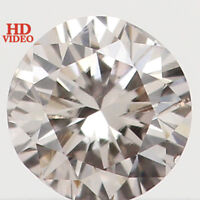 3.20 MM 0.12 Ct Natural Loose Diamond Round Shape Brown Color SI1 Clarity L2943