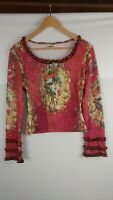Love Amour Womens Long Sleeve Blouse Top Size 3 Art History Renaissance Painting