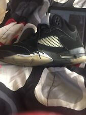 Air Jordan 5 Retro Metallic Black Size 6 Youth