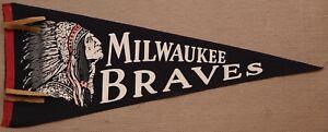 vintage Milwaukee Braves pennant