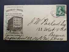 Rhode Island: Providence 1889 Central Hotel Building Advertising Cover