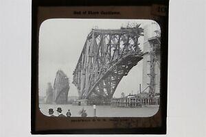 Forth Bridge & Plans - Set Of 10 Glass Lantern Slides c1890s GW Wilson