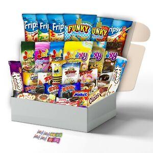(2,1Kg) Süßigkeiten und Snacks Box XXL mit 31 Beliebte Süßigkeiten für Kinder