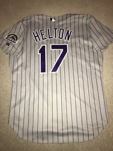 Team Issued Todd Helton Authentic Russell Colorado Rockies Jersey Size 48