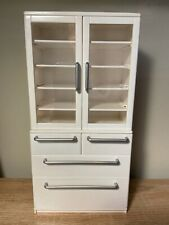 Rement miniature rare 2005 white cupboard cabinet barbie Blythe or dollhouse