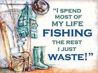 FUNNY METAL SIGN NOVELTY FISHING GIFT FOR UNCLE GRANDAD MEN HIM DAD JOKE PRESENT