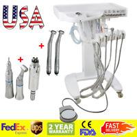 USA Portable Dental Delivery Mobile Cart Unit Equipment 4-Hole Syringe Handpiece