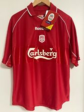 2000/02 Liverpool Home Jersey Large Reebok Carlsberg Soccer Football RED NEW