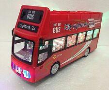 London Double Decker Tourist Bump & Go Red Bus - Sound &LED Light Souvenir Toy