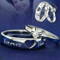 Männer und Frauen paar Mode Legierung Ring einfaches Paar Ring Geschenk NEU
