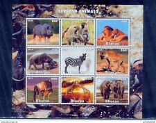 bhutan/ 2016 african animals s/s/mnh.good condition