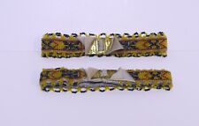 Antique Vintage c 1920s/30s Art Deco Loom Beaded Wedding Garters Set of Two MINT