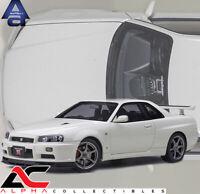 PREORDER AUTOART 77406 1:18 NISSAN SKYLINE GT-R (R34) V-SPEC II (WHITE PEARL)