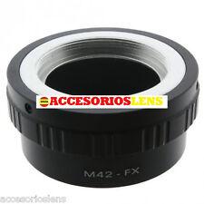 ADAPTADOR DE OBJETIVOS M42  A FX,Fujifilm, Fuji X-Pro1, XPro1 X Pro 1