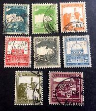 8 nice old used stamps Palestine