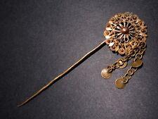 ANTIQUE 1800-1900's. GILT FILIGREE JEWELRY PIN