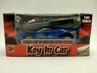 HGL Key In Car Blue Racing Car Diecast Model Car 1:64 Scale Boxed Kids Toy Car