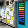 10 Pockets Hanging Wall File Organizer Home School Office Folder Storage Black