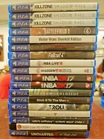 Miscellaneous PS4 Games - $10 each - Choose the ones you want - Volume Pricing