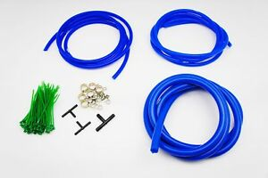 AUTOBAHN88 Engine ROOM Silicone Air Vacuum Hose Dress Up Kit BLUE Fit TOYOTA
