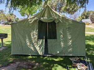 Old Hirsh Weis Portland Oregon CHALET I 12'x9' Really Good Vtg Canvas tent