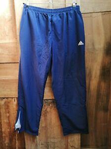 Pantalon de sport femme année 90 Adidas T. L  old school sportwear jogging bleu